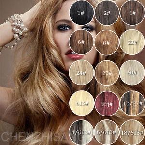 18-034-Remy-70g-Humaines-Clips-Extensions-De-Cheveux-A-Droite-Blond-Brun-Noir