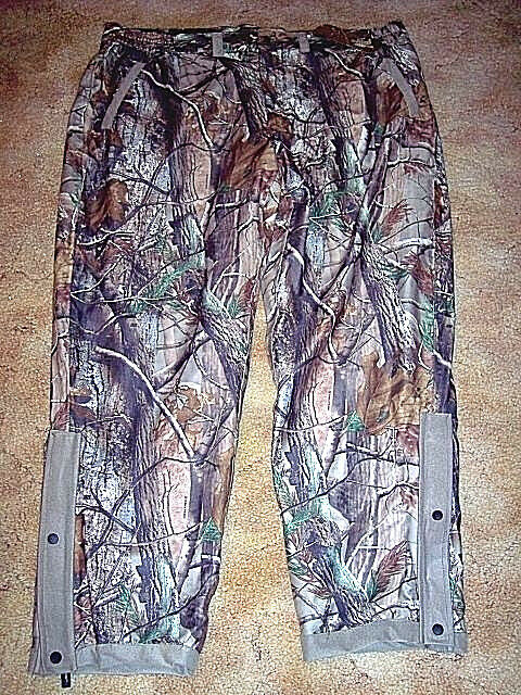 Mens 3X Rain Pants Realtree Camo Pants XPS Polyester Lined Hunting Pants Warm