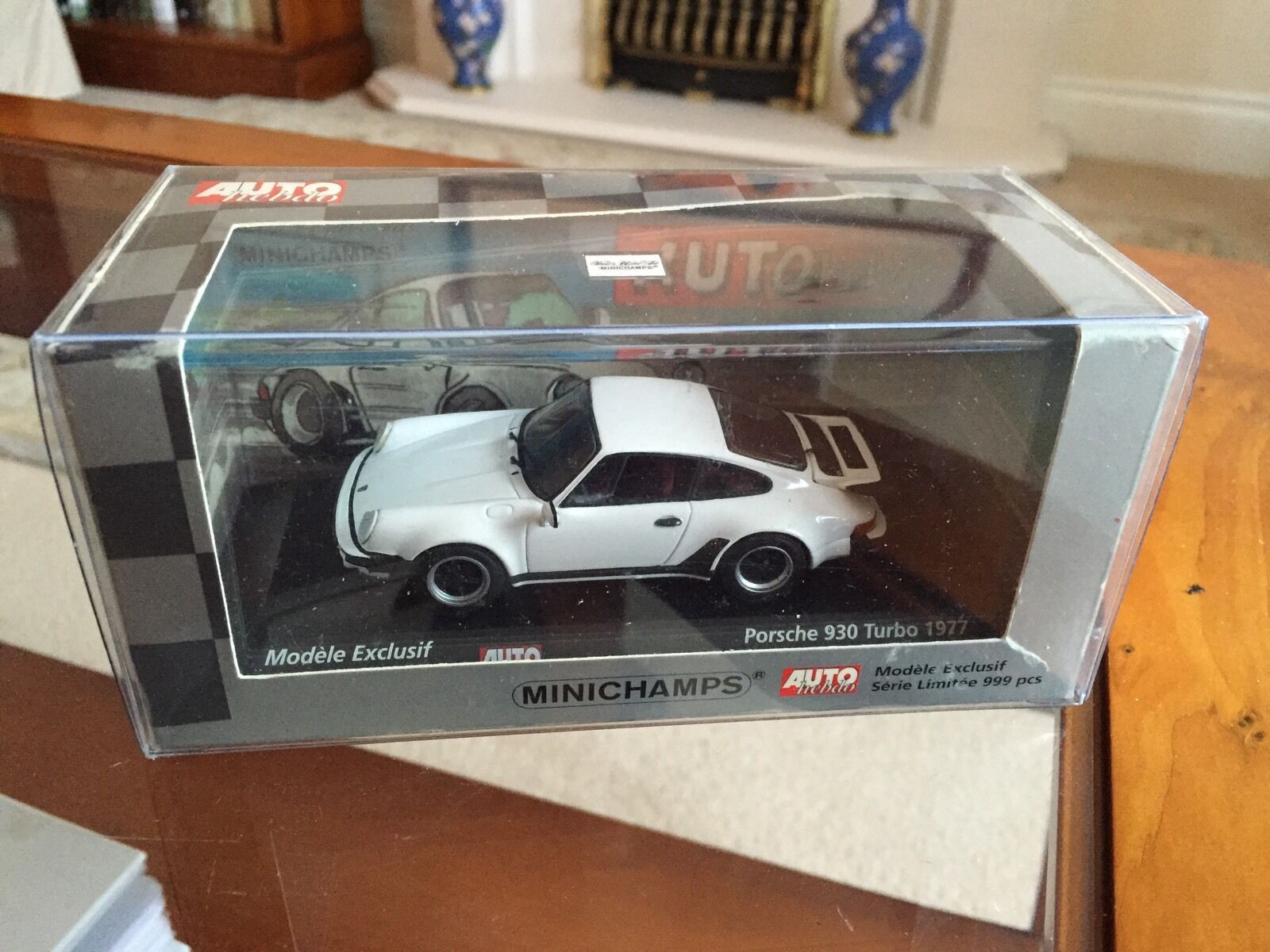Rare Minichamps Porsche 930 Turbo for 1977. Auto Hebdo Edition. In 1 43 Diecast