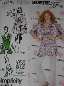 Simplicity  296 Misses/' Pullover Tunics   Sewing Pattern