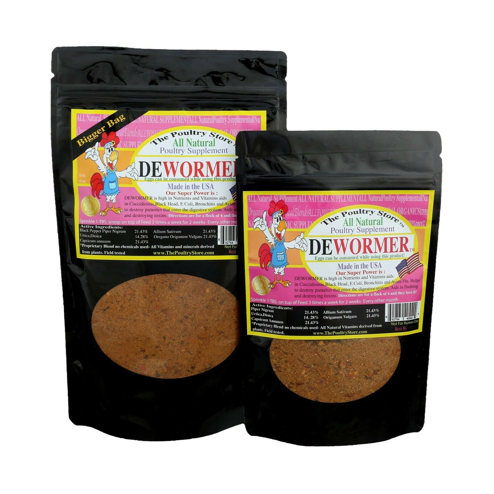 Natural organic blended Poultry DeWormer - The Poultry Store TM