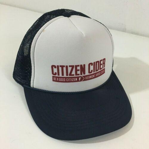 Citizen Cider Men Trucker Hat Cap Blue White Snapb