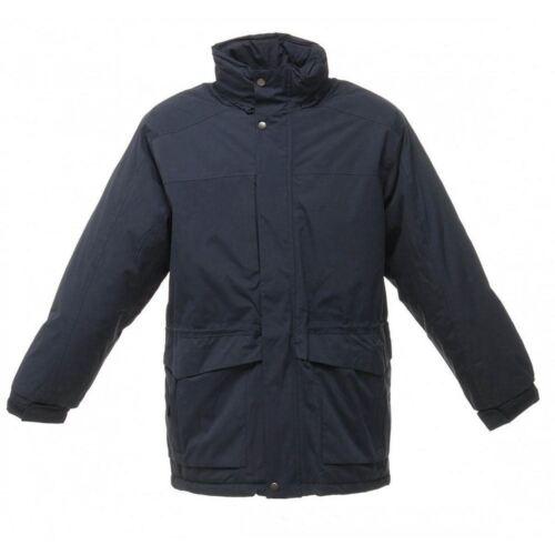 Veste Homme Darby à Capuche Matelassé Isolé Imperméable Travail Manteau Bleu Marine