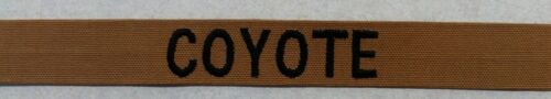 COYOTE BROWN  NAME TAPE with hook fastener