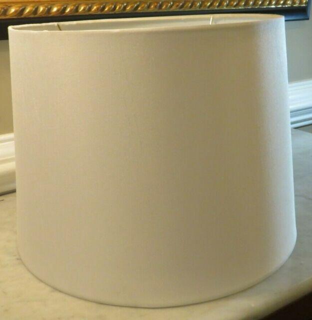 """Drum Lamp Shade Linen White Hampton Bay 859184 12"""" x 14"""" x 10"""""""