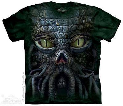 THE MOUNTAIN BIG FACE CTHULHU KRAKEN GIANT SQUID SCALES TENTACLE TEE SHIRT S-5XL