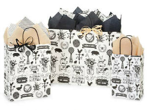FARMHOUSE-FAVORITES-Design-Party-Gift-Paper-Bag-ONLY-Choose-Size-amp-Pack-Amount