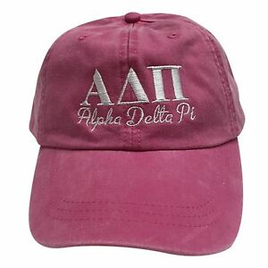 5ef82ad43d4 Alpha Delta Pi (S)Hot Pink Baseball Hat with White Thread Hat ADPi ...