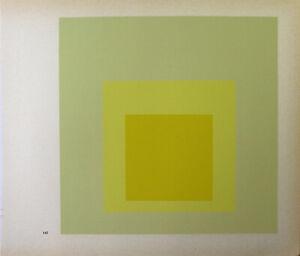 Josef Albers-Hommage to SQUARE IV. unsignierter farbsieb pressione (1968).