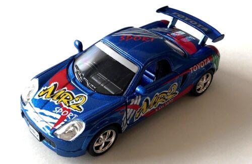 "New Kinsmart Diecast Cars 5/"" Toyota MR2 Sport Racing Decals Street Fighter *Blue"