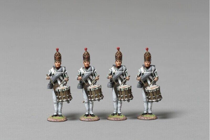 THOMAS GUNN NAP052A Pavlowski Drummer Section 4 figures set - Napoleonic 1812