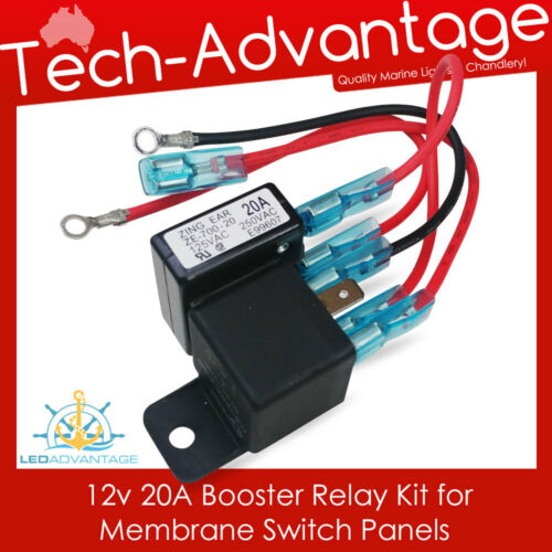 SUITS SWITCHES LA-MA-0202-6G /& LA-MA-0202-12G 1 X 12V 20 AMP BOOSTER RELAY KIT