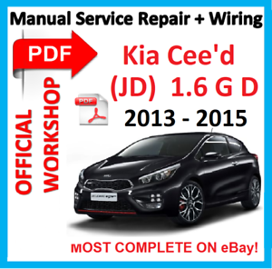 official workshop manual service repair for kia ceed ii mk2 jd 2012 rh ebay co uk Kia Ceed 2018 Kia Ceed Interior