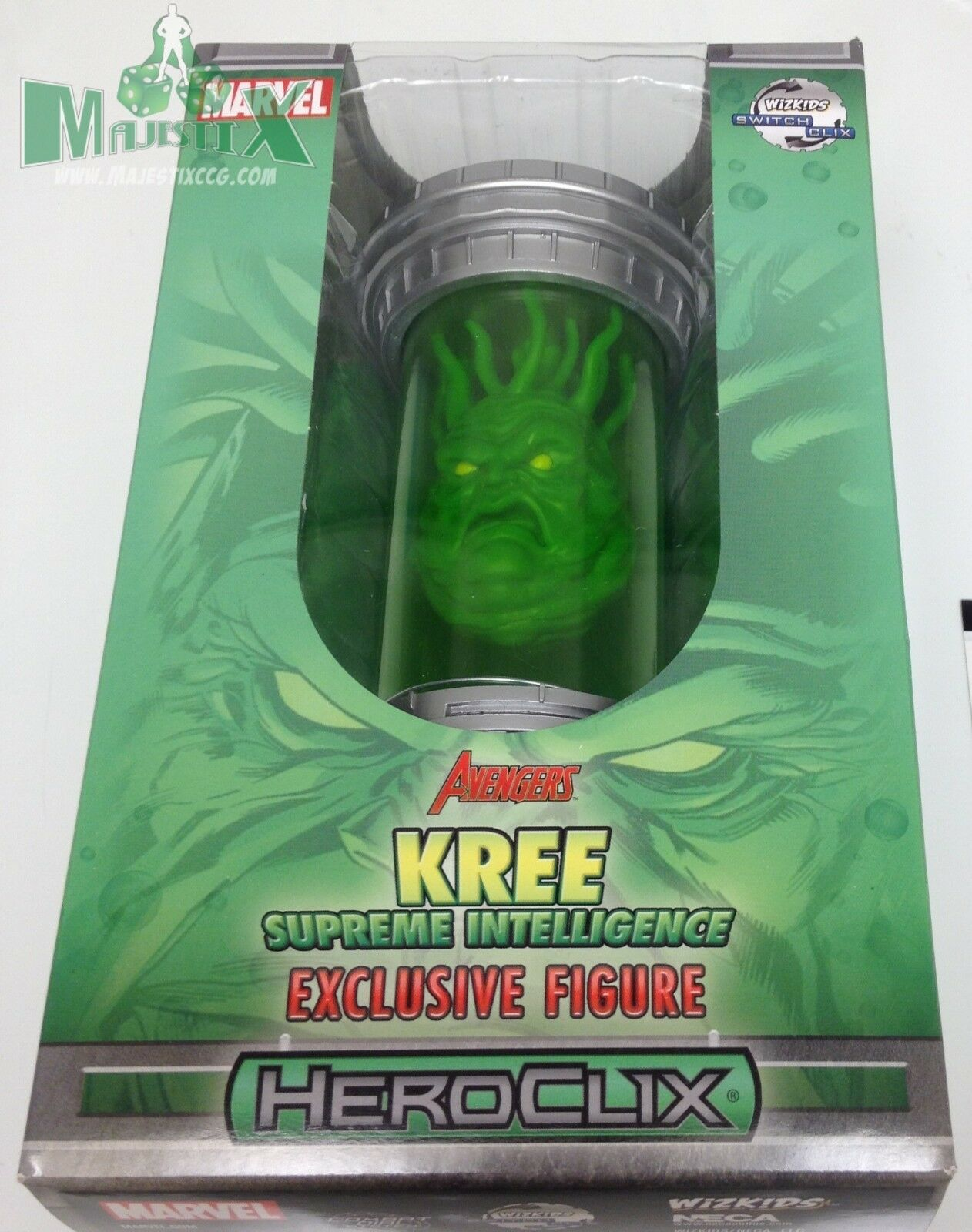 Heroclix 2015 Convention Exclusive Kree Supreme Intelligence  M-G004 LE w card