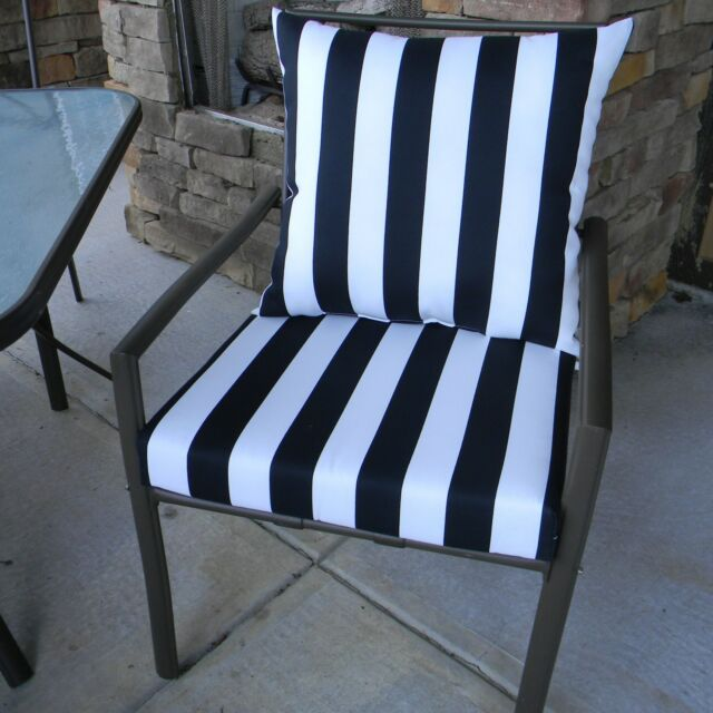 20 X20 Cushion Pillow Set For Outdoor Patio Dining Chair Choose Solid Stripe