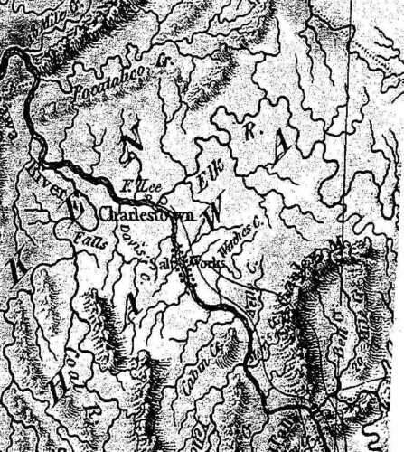 1823 WV MAP Middlebourne Martinsburg Harpers Ferry West Virginia History ITS BIG