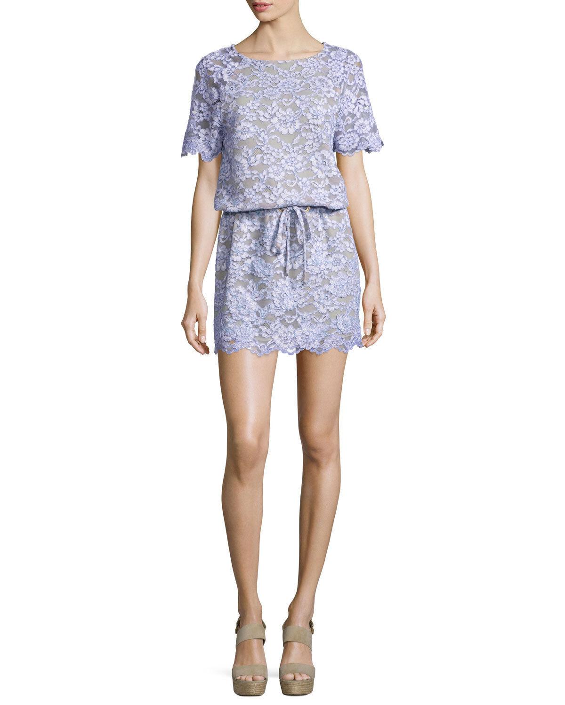 NEW DVF Diane von Furstenberg Amal Lace purplec Nude Crystals Purple Dress M