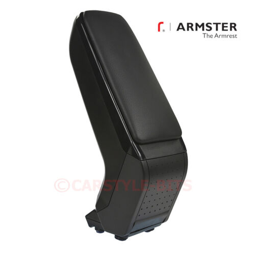 Black RHD ONLY Armster S Armrest Centre Console Arm Rest MAZDA 2 2007-2014
