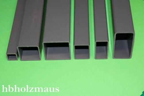 3,59 €//m 20 x 20 x 1,5 mm Vierkantrohr Grau Länge wählbar PVC