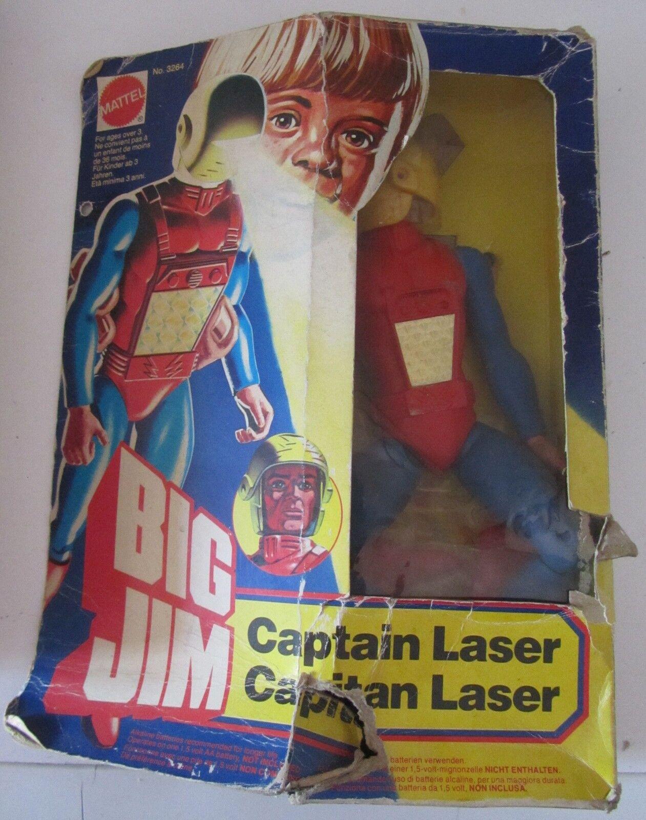 Big Jim Captain Laser Capitan 3264 rigido box Rovinato Mattel SPESE GRATIS