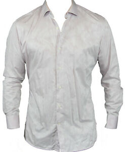 New-Ted-Baker-Endurance-Mens-Casual-Shirt-in-Pink-Colour-Size-34-35