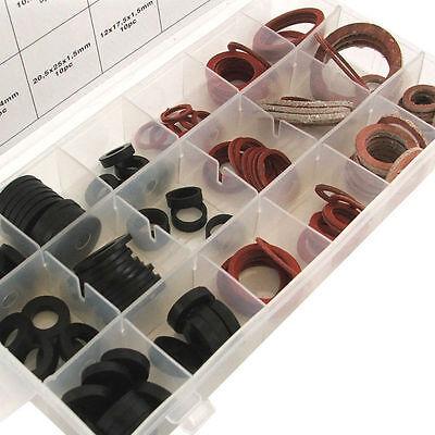 141 Piece Sealing Washer Set - Assortment Fibre & Rubber Plumbers Tap