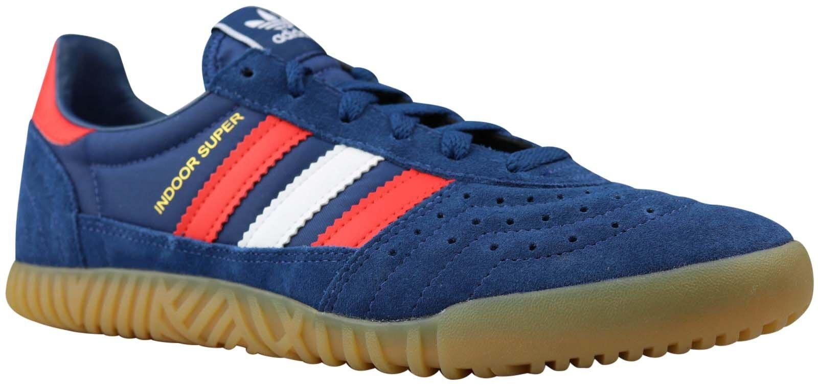 Adidas indoor Super calcetines cortos zapatos by9769 azul Gr. 40 40,5 42 nuevo & OVP