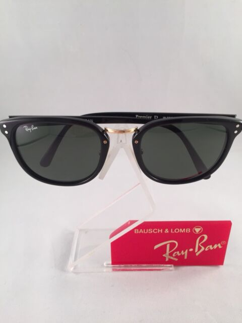 VINTAGE RAY BAN Bausch & Lomb USA Black Premier D W0860 mint