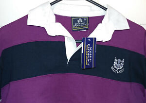 NEW W/TAGS - Scottish Experience Scotland Long-Sleeve Cotton Striped Shirt