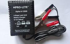 Ac12005-DOPPIA 6V / 12V 500mA SLA caricabatteria per SLA batttery DA 2Ah fino