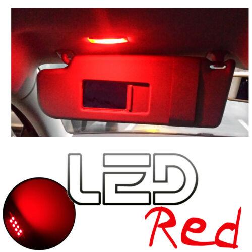 AUDI TT Mk2-2 Ampoules LED ROUGE Eclairage Miroirs de courtoisie  Pare soleil