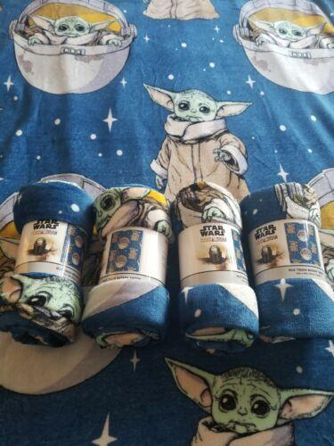 The Mandalorian  Baby Yoda Kids Blanket Plush Throw 45 X 55in Disney Star Wars