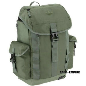 Adidas-Originals-Urban-Utility-Backpack-Army-Green-Olive-New-With-Tags-Back-Pack
