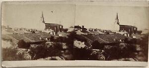 Ville Chiesa A Identificare Foto Amateur Stereo Vintage Albumina Ca 1875