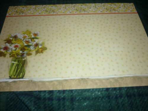 HUNKYDORY DECO-LARGE DAFFODIL DELIGHT DIE-CUT-BASE-CARD-BACKING-INSERT-ENVELOPE