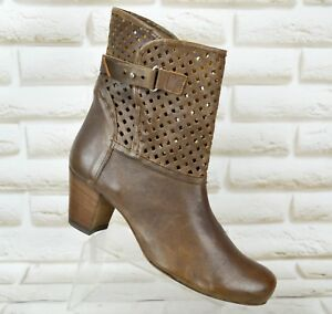 Uk Eu 38 Boots Ankle Size 5 Womens Leather Booties Alberto Fermani Heeled Shoes FwTvS4q