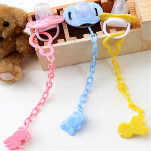 2pcs Cartoon Baby Pacifier Chain Clip Anti Lost Dummy Soother Nipple Holder  GQ