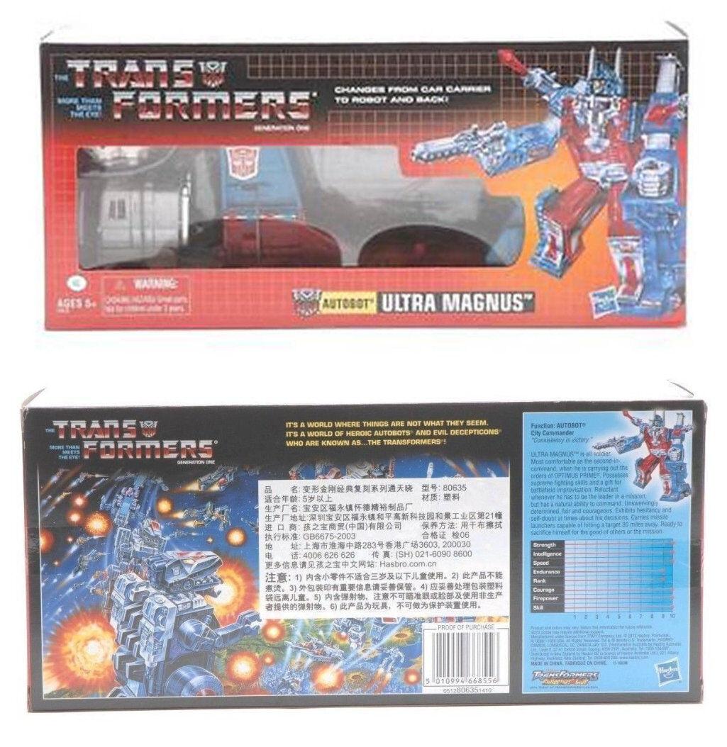 G1 transformers ultra magnus neuauflage mint geschenk kinder spielzeug new in box heiß