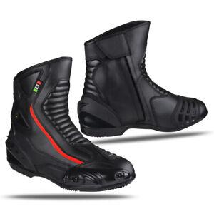 Scarpa-Stivale-in-Pelle-Motociclismo-Calzatura-Sport-Moto-BIESSE