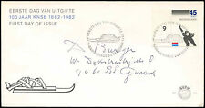 Netherlands 1982 Royal Dutch Skating Association FDC First Day Cover #C27765