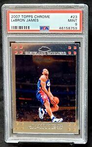2007-Topps-Chrome-Lakers-LEBRON-JAMES-Basketball-Card-PSA-9-MINT-Low-Pop-200