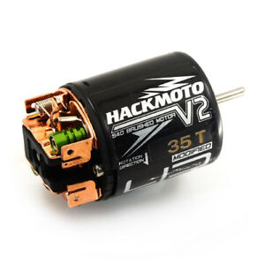Hackmoto-35T-brushed-motor-for-1-10-RC-Crawlers-amp-Trucks-suit-Axial-Vaterra-Losi