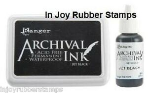 Ranger-JET-BLACK-Ink-Pad-Reinker-Refill-or-Jumbo-Archival-Acid-free-Waterproof