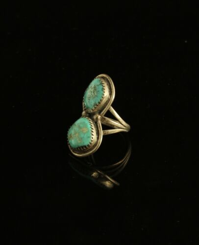 Details about  /Vintage Navajo Silver /& Turquoise Ring Size 9 Heavy 21 Grams