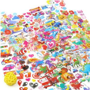 5-Sheets-Cute-Cartoon-Scrapbooking-Bubble-Puffy-Stickers-Reward-Kids-ToysKTP