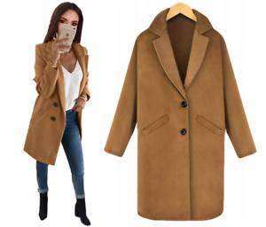 Abrigo-senora-casual-remiendos-clasico-Lang-Camel-elegante-caramelo-marron-gris