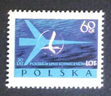 POLAND STAMPS MNH 2Fi971 Sc863 Mi1115 - Polish Airlines LOT, 1959,clean