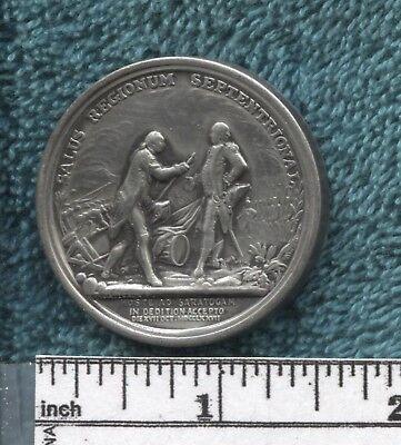 Pewter U.s Washington In Victory Battle Of Saratoga Mint Medal