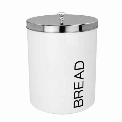 Bread Bin Storage Kitchen Loaf Roll Food Box Retro Home Container White