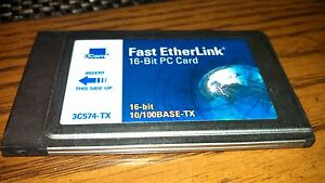3COM 3C574-TX FAST ETHERLINK PC CARD WINDOWS DRIVER DOWNLOAD